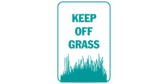 Keep Off Grass with Icon
