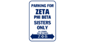 Parking for zeta phi beta sisters only