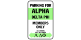 Parking for alpha delta phi members only