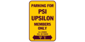 Parking for psi upsilon members only