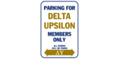 Parking for delta upsilon members only