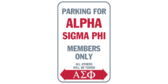 Parking for alpha sigma phi members only