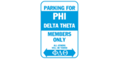 Parking for phi delta theta members only
