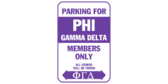 Parking for phi gamma delta members only