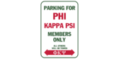 Parking for phi kappa psi members only