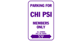 Parking for chi psi members only