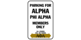 Parking for alpha phi alpha members only