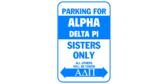 Parking for alpha delta pi sisters only