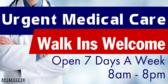Urgent Medical Care Walk Ins Welcome