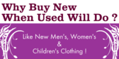 Like New Men's Women's & Children's Clothing