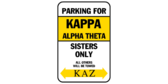 Parking for kappa alpha theta sisters only