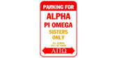 Parking for alpha pi omega sisters only