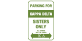 Parking for kappa delta sisters only