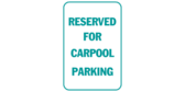 Reserved for carpool parking