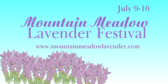Mountain Meadow Lavender Festival