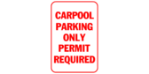 Carpool parking only permit required