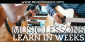 Music Lessons Learn in Weeks Your Message Here