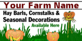 Cornstalks And Seasonal Decorations