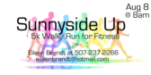 Annual Sunnyside up 5K walk/run for fitness