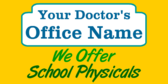 We Offer School Physicals Here