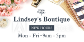 Boutique New Hours Message