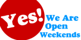 We Are Open Weekends