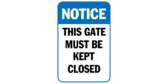 This gate must be kept closed