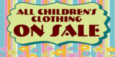 Children's Clothing Sale Here