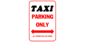 Taxi parking only