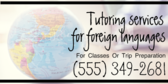 Tutoring Services For Foreign Languages