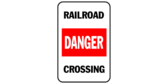 Railroad crossing danger