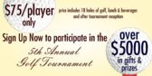 Annual Golf Tournament with Gifts and Prizes