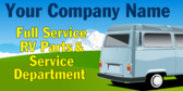 Full Service RV Parts and Service Department