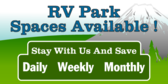 RV Park Spaces Available