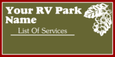 RV Park List Of Services
