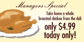 Managers Special Chicken