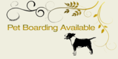 Pet Boarding Available