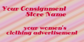 Generic Women's Used Consignment