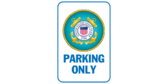 Coast guard parking only signs