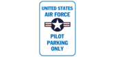 Us air force pilot parking only