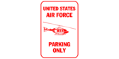 Us air force helicopter pilot parking only