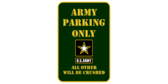 United states army parking only