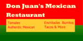 Authentic Mexican Specialities