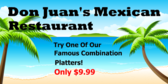 Tropical Mexican Platter Special