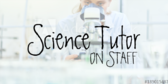 Science Tutors on Staff