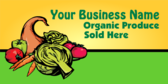 Your Business Name Organic Produce Sold Here