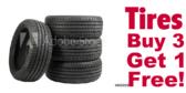 Tires Buy 3 Get 1 Free