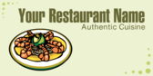 Your Restaurant Name Authentic Cuisine