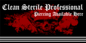 Clean Sterile Professional Piercing Available Here