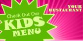 Generic Children's Menus